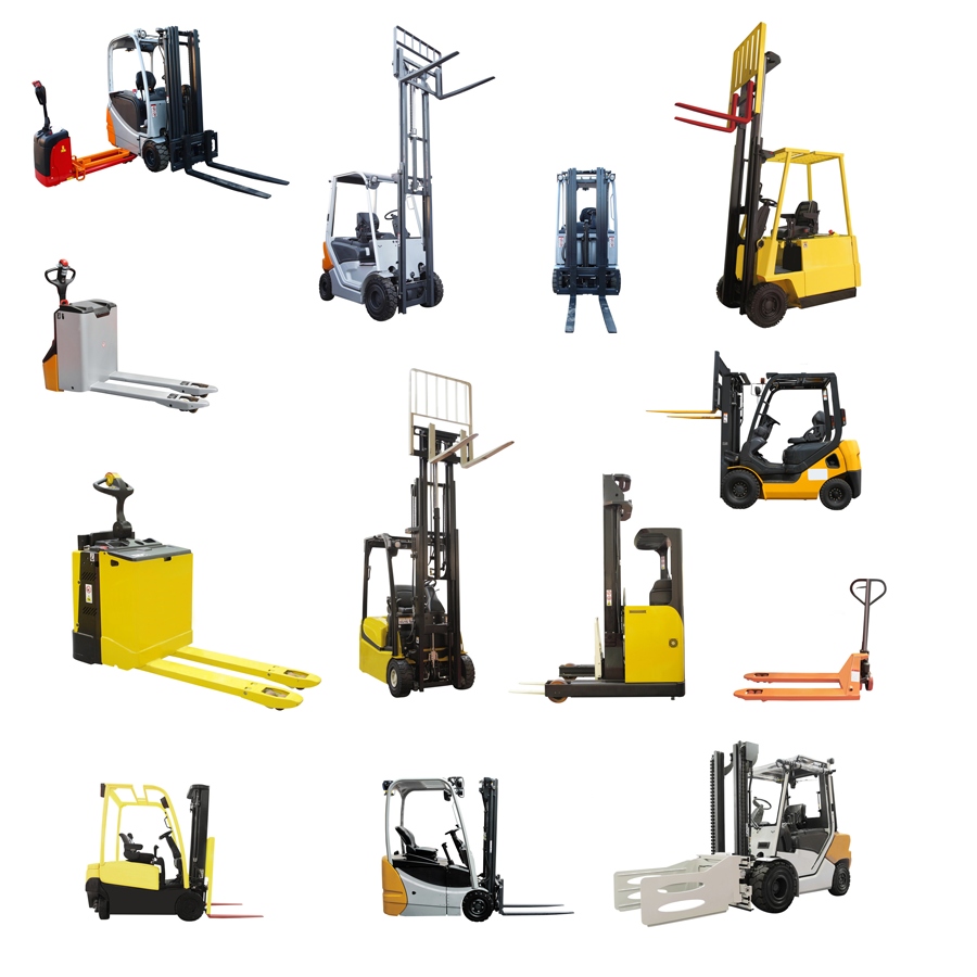 Forklifts collage